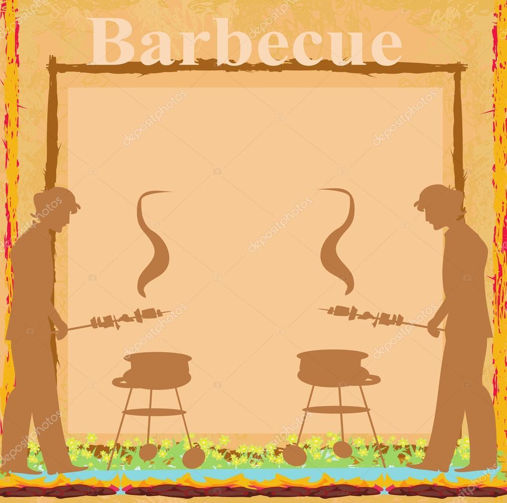 Imágenes Invitaciones Para Barbacoa Hombre Cocinando En