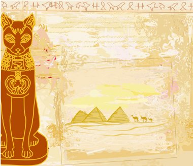 Stylized Egyptian cat