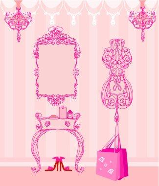 elegant style dressing room