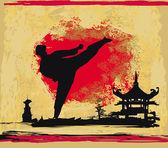 karate grunge pozadí