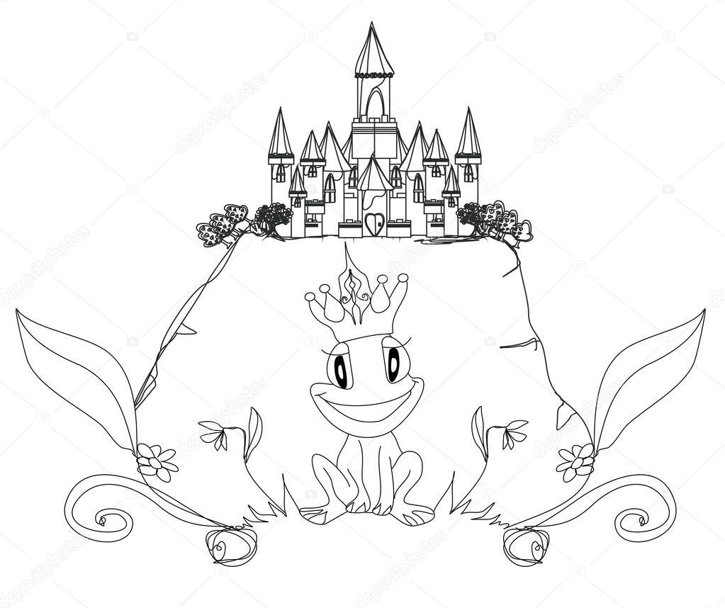 personaje de dibujos animados de príncipe rana — Archivo Imágenes ...