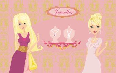 Girls and jewellerys