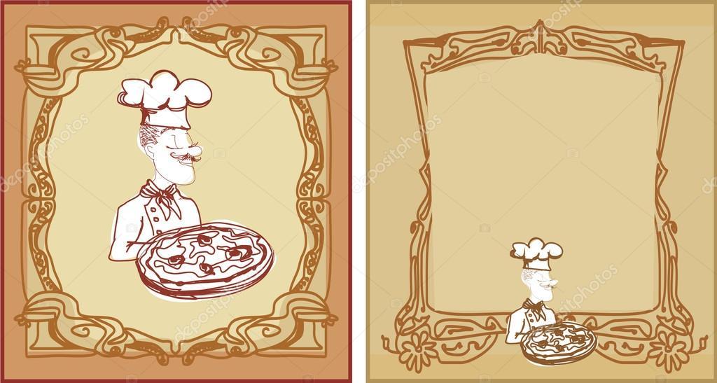 conjunto de plantillas de menú de pizza — Archivo Imágenes ...