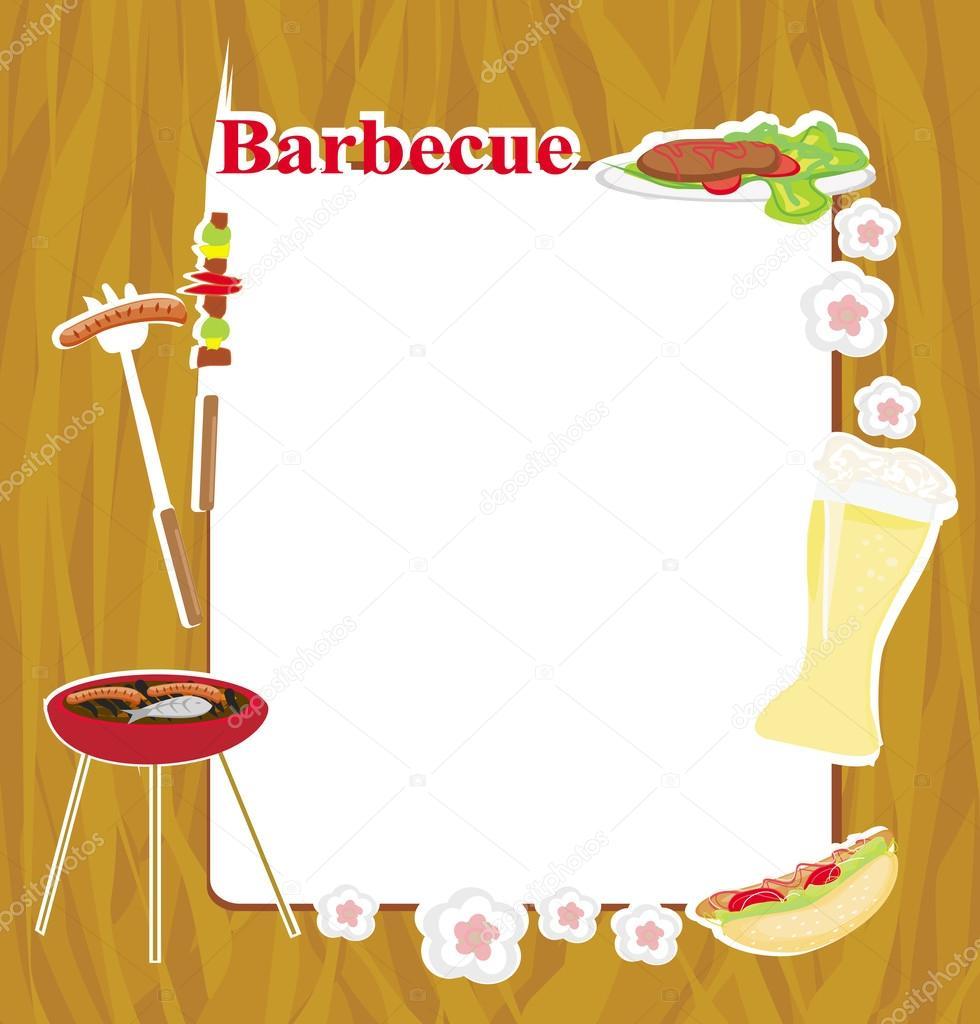 Convite Para Festa De Churrasco Vetor De Stock Jackybrown 43433651