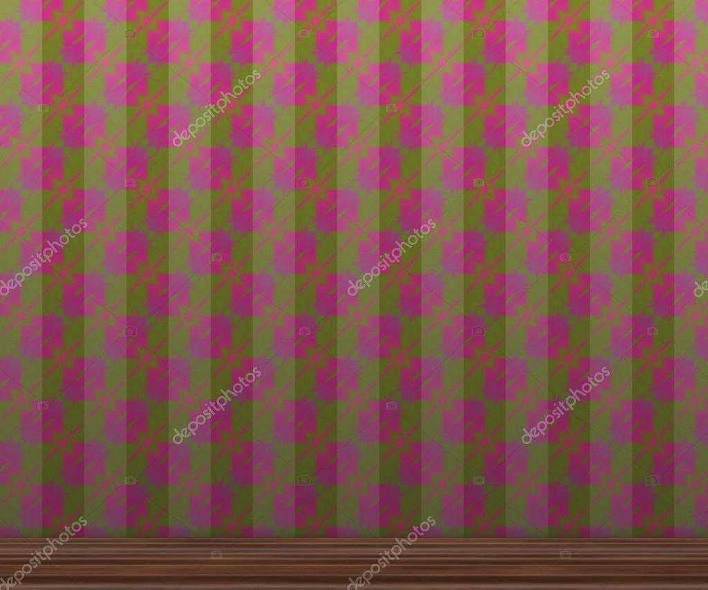 Carta Da Parati Damascata Rosa : Texture di carta da parati rosa e verde u foto stock