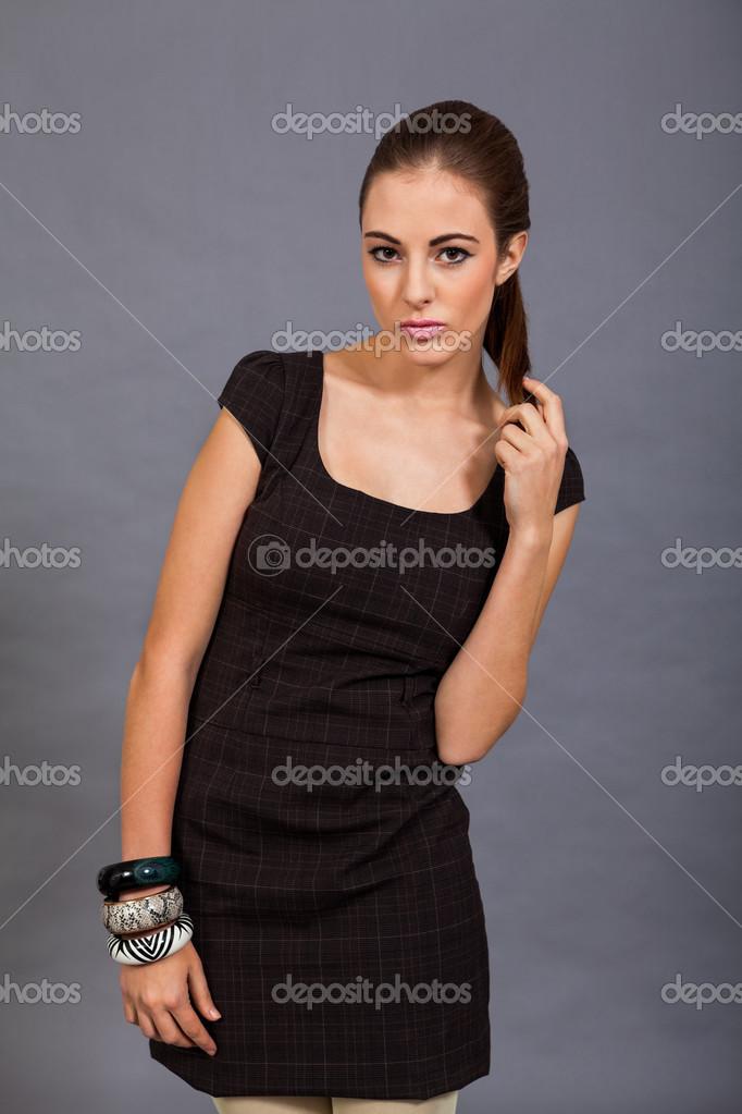 Braunes kleid welche strumpfhose