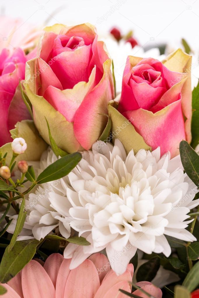 frische Rosa und weiße Blumen — Stockfoto © nilswey #37936065