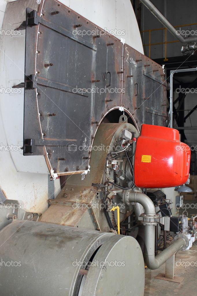 Industrielle Duell Kraftstoff-Dampfkessel — Stockfoto © 1markim ...