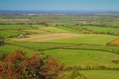 View from Brent Knoll Somerset to Bristol Channel