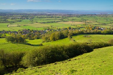 View from Brent Knoll Somerset