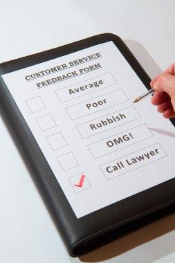 Fun Customer Service Feedback Form Call lawyers