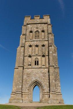 St Michaels Tower Glastonbury Tor Hill Somerset England