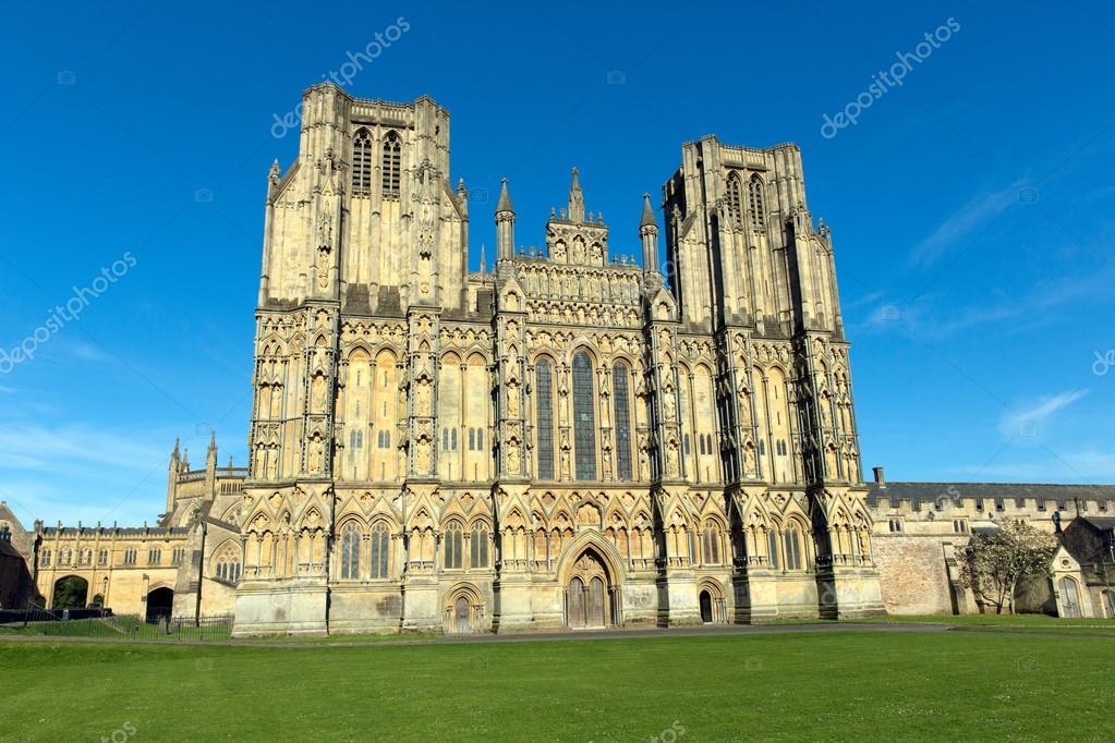 Kathedraal van wells somerset engeland u stockfoto