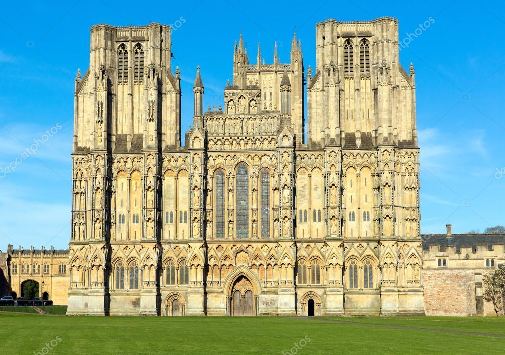 Engelse kathedraal wells somerset engeland u stockfoto