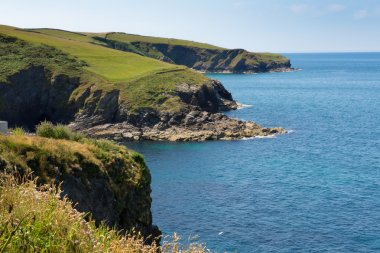 Cornish coast at Port Isaac in direction of Tintagel Cornwall England UK