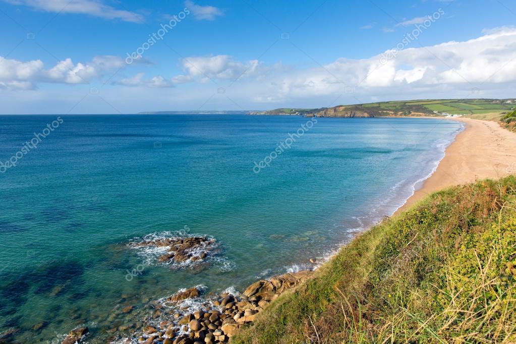 Cote Sud Angleterre plage de sables de praa cornwall côte sud ouest de l'angleterre uk