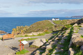 Path to Lands End Cornwall England UK