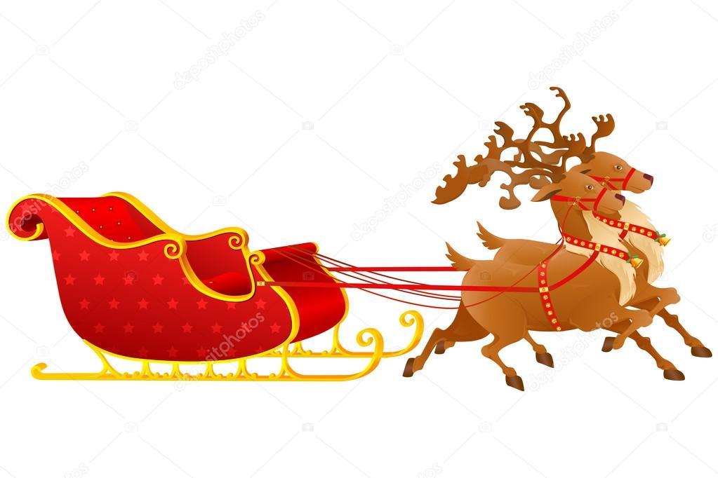 Weihnachts-Schlitten — Stockvektor © stockshoppe #14434413