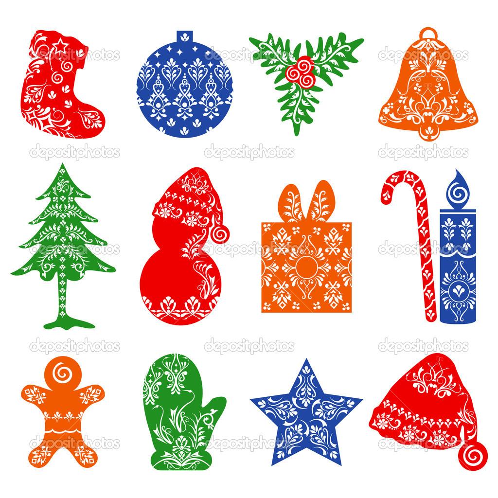 Weihnachts-Vorlage — Stockvektor © stockshoppe #18002639