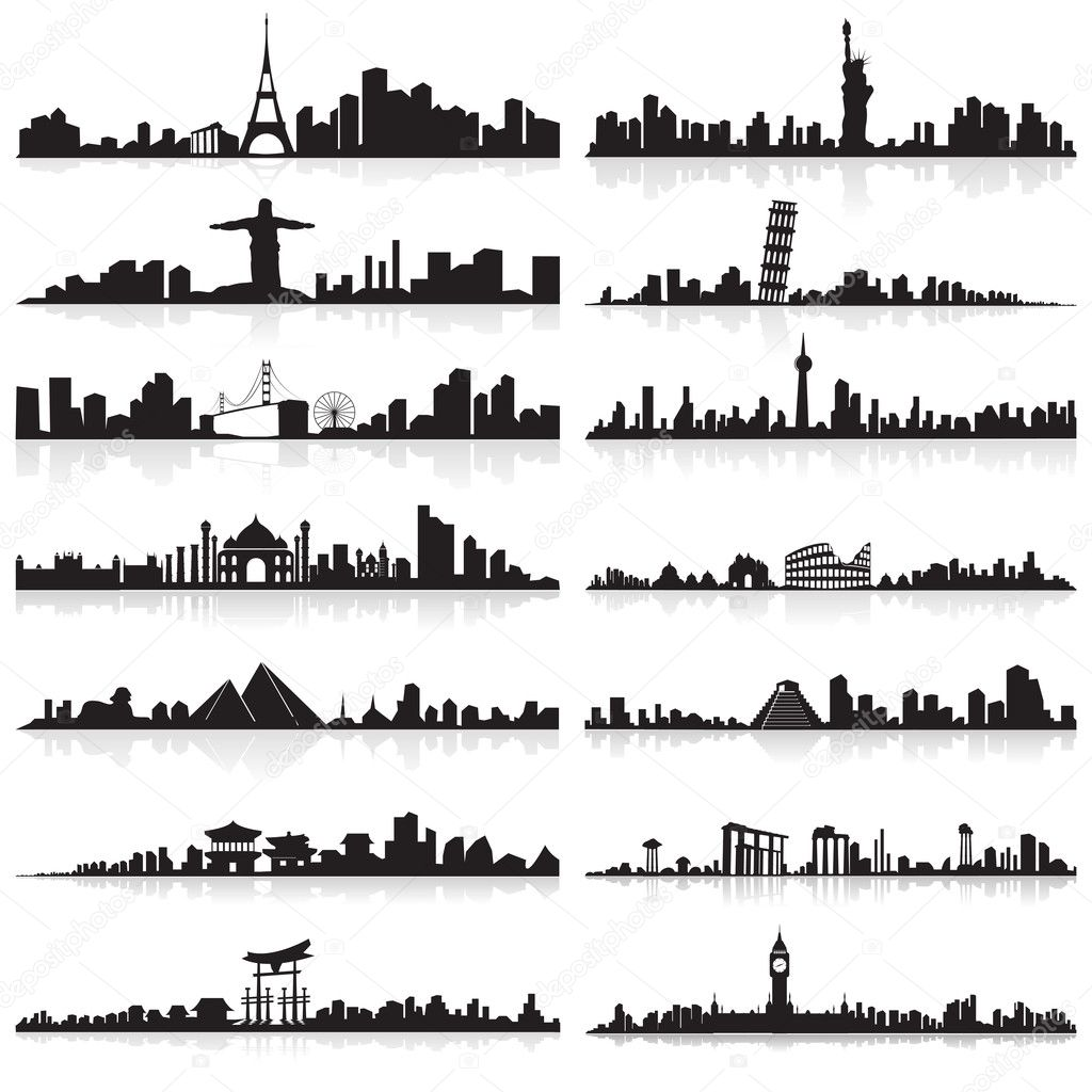 Skyline of famous city
