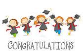 Fotografie šťastný absolventi