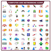 Barevné počítače a ikona sítě