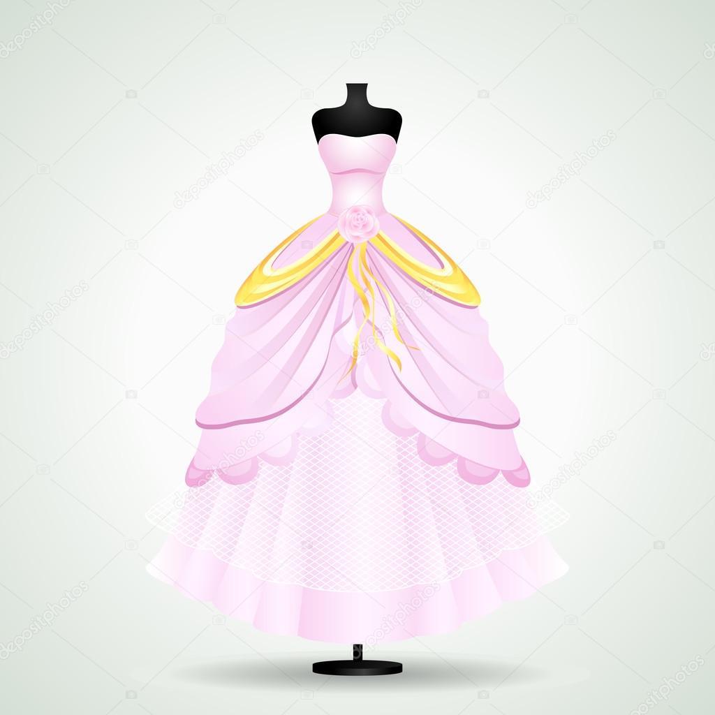 Vestido de novia — Vector de stock © stockshoppe #25377209