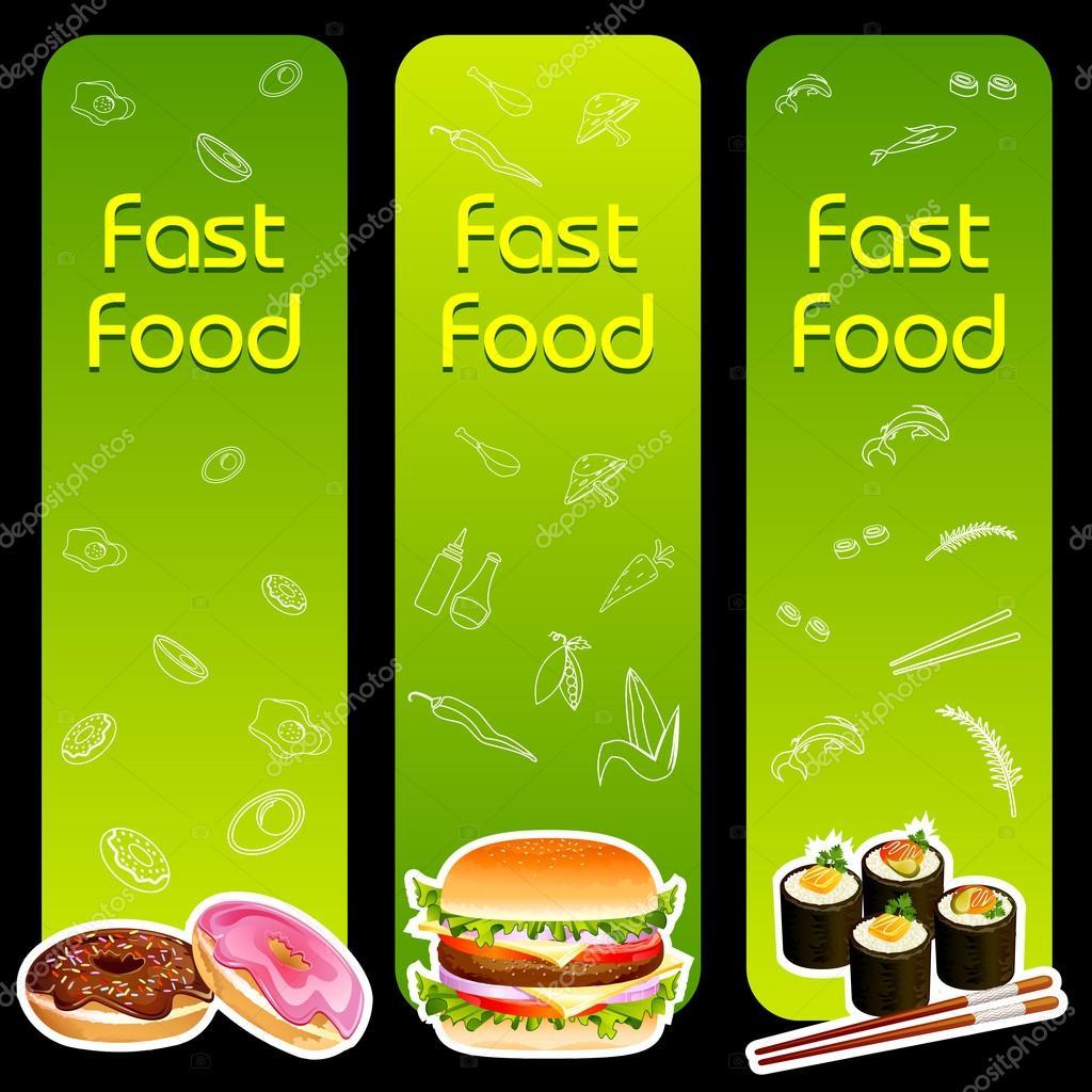 Fast Food Menu Template Stock Vector C Stockshoppe 25377935