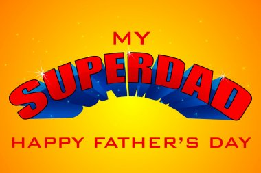Superdad Father's Day Background