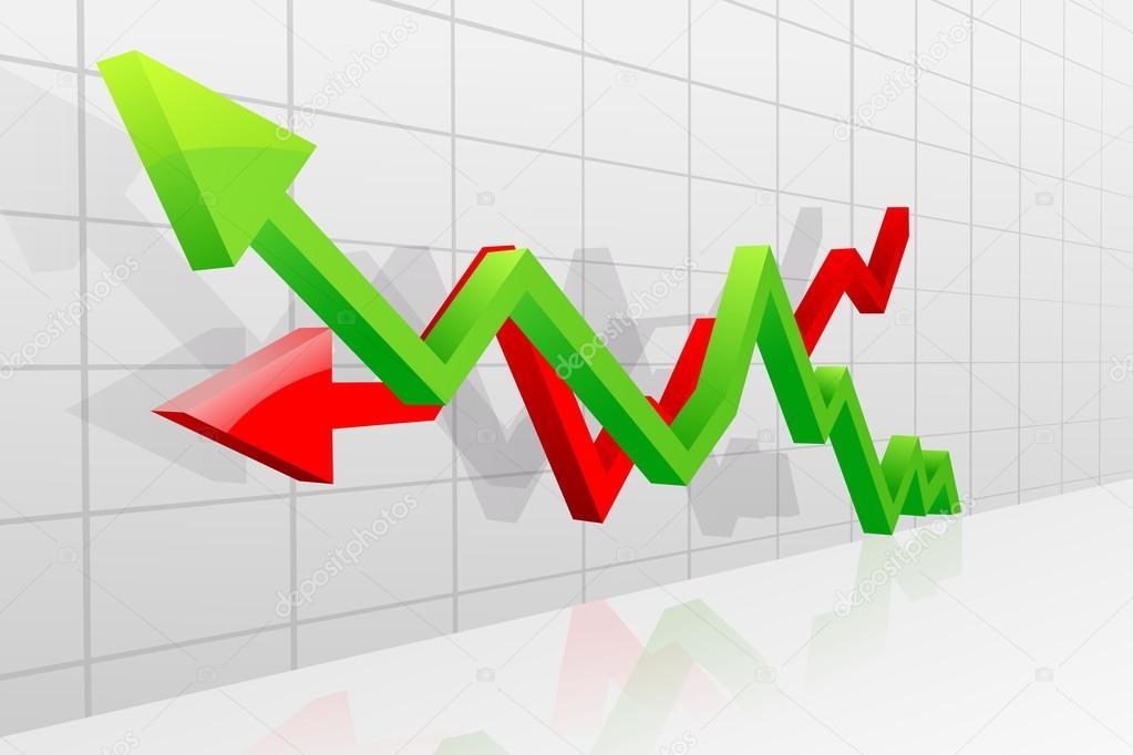 Gewinn und Verlust Pfeil — Stockvektor © stockshoppe #26429751