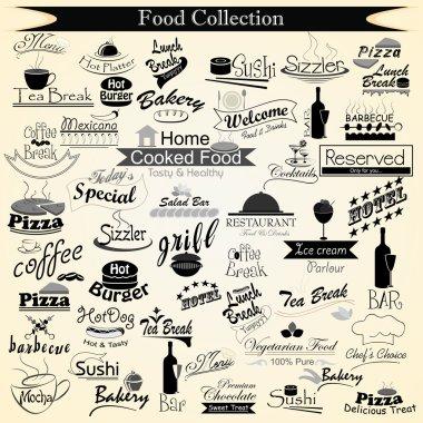 Food Menu Calligraphy