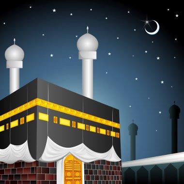 Eid Mubarak (Blessing fo Eid) with Kaaba
