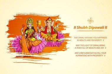 Goddess Lakshmi and Lord Ganesha in Diwali