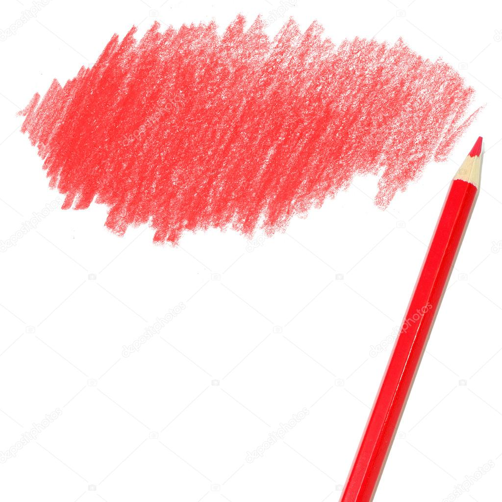 red colored pencils