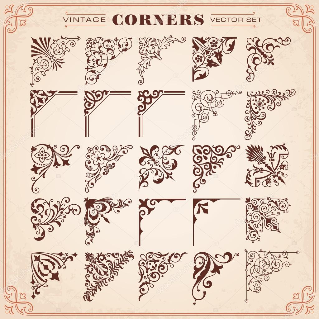 Vintage Design Elements Corners And Borders
