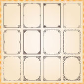 Fotografie Decorative frames and borders set vector