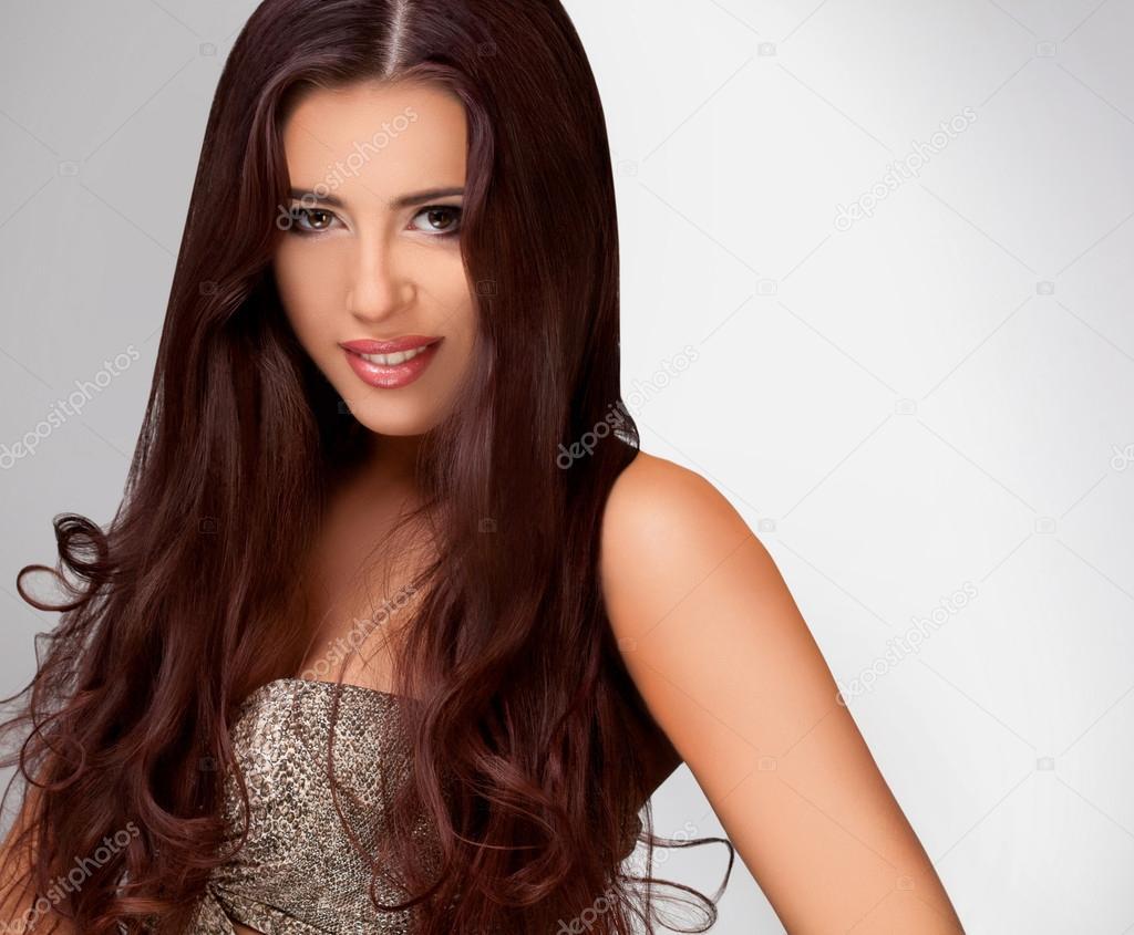 Glatte Lange Haarehohe Qualität Bild Stockfoto Puhhha