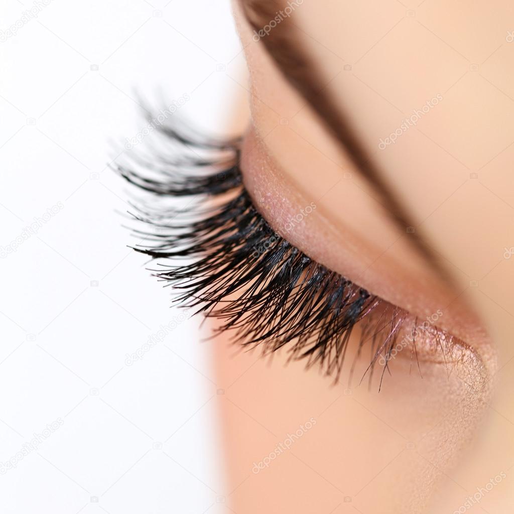 Stáhnout - Žena oko s dlouhé řasy - Stock obrázek