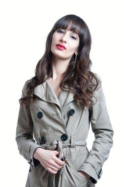 Woman in a rain coat