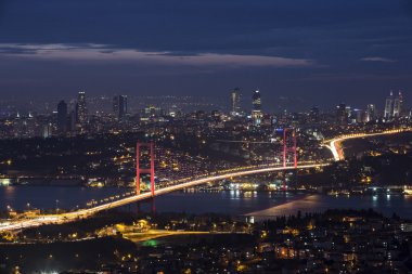 Bosphorus and bridge at night, Istanbul