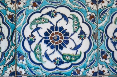 View of wall tiles in Blue Mosque, Istanbul