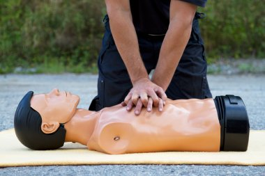 Instructor showing CPR