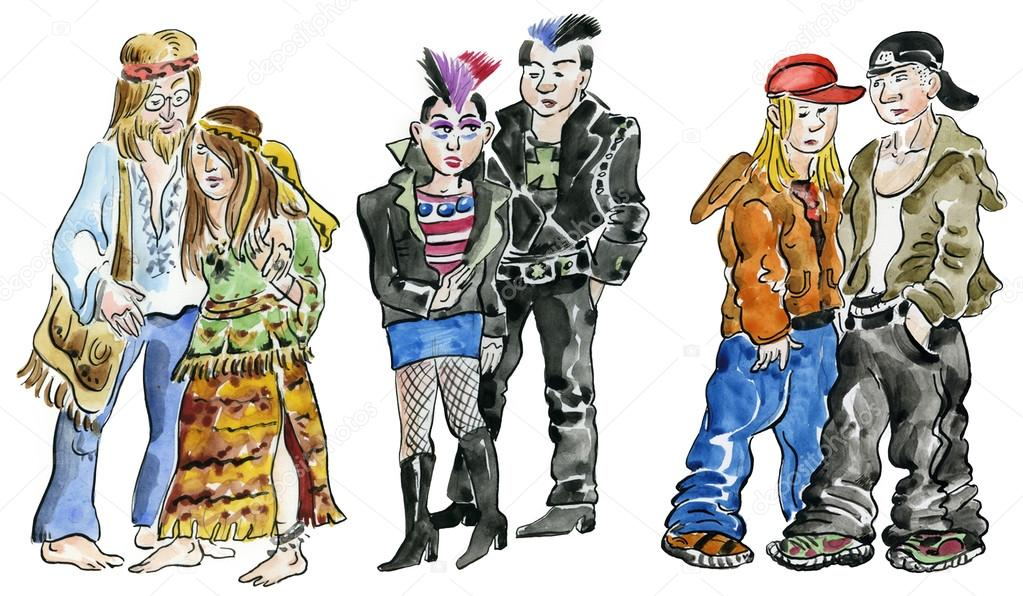 Afbeeldingsresultaat voor hippie and punk