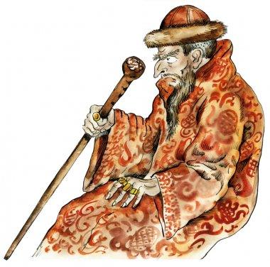 Tsar Ivan the Terrible caricature portrait