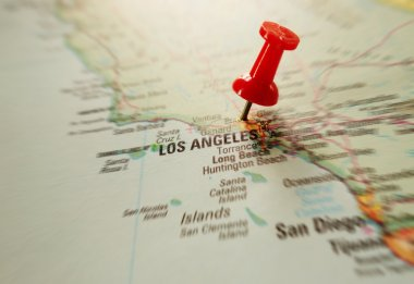 Pin in LA map