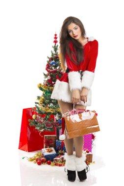 Sensual woman Santa helper