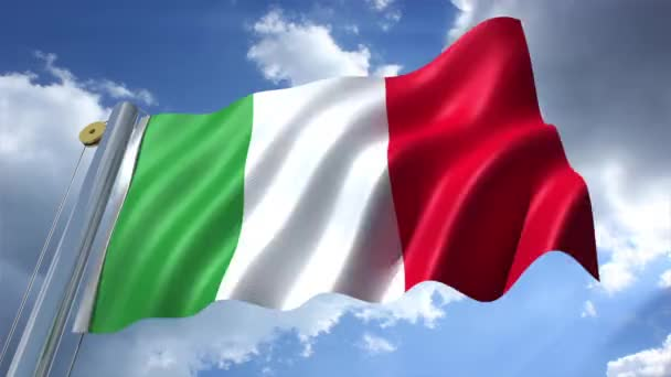 Italy Flag with blue sky background