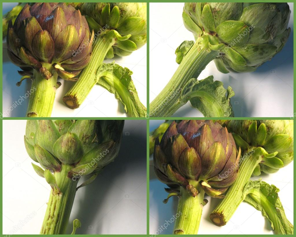 Raw artichokes (green edge)