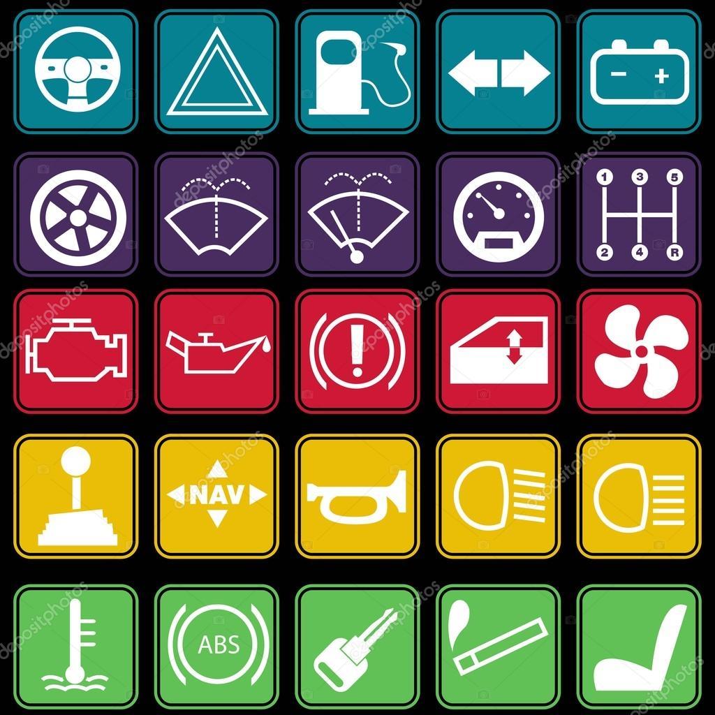style de base d 39 ic ne du tableau de bord voiture image vectorielle ragakawaw 23935627. Black Bedroom Furniture Sets. Home Design Ideas