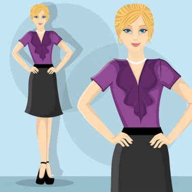 Young and beauty career woman stock vector
